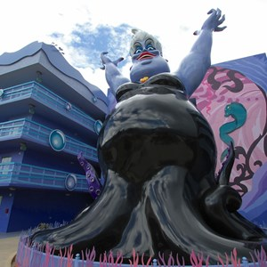 11 of 31: Disney's Art of Animation Resort - Disney's Art of Animation - Little Mermaid section Ursula figure