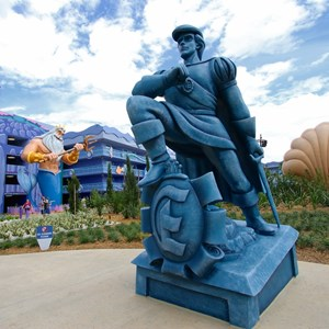 12 of 31: Disney's Art of Animation Resort - Disney's Art of Animation - Little Mermaid section Prince Eric figure