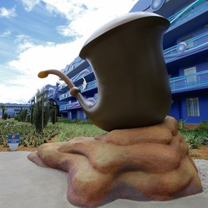 13 of 31: Disney's Art of Animation Resort - Disney's Art of Animation - Little Mermaid section props