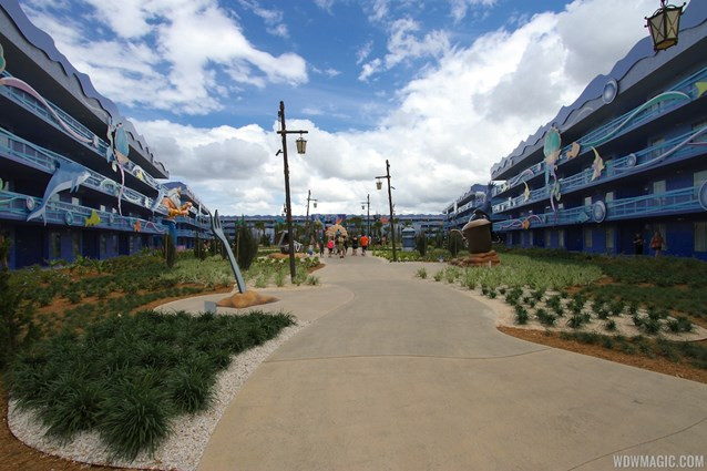 Disney's Art of Animation Resort - Disney's Art of Animation - Little Mermaid section pathway