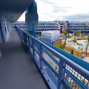 23 of 31: Disney's Art of Animation Resort - Disney's Art of Animation - Little Mermaid section exterior corridor