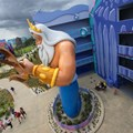 Disney's Art of Animation Resort - Disney's Art of Animation - Little Mermaid section King Triton figure