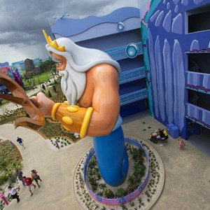 25 of 31: Disney's Art of Animation Resort - Disney's Art of Animation - Little Mermaid section King Triton figure