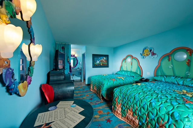 Disney's Art of Animation Resort - Disney's Art of Animation - Little Mermaid section in room - Photo Copyright 2012 The Walt Disney Company