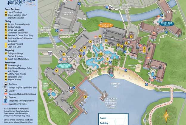 2013 Beach Club Resort guide map