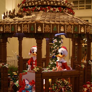 1 of 5: Disney's BoardWalk Inn - The 2008 Holiday gingerbread house at the Boardwalk Resort lobby.