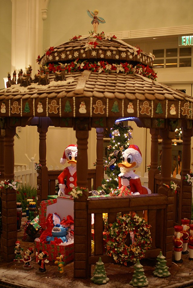 Disney's BoardWalk Inn - The 2008 Holiday gingerbread house at the Boardwalk Resort lobby.