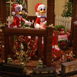 3 of 5: Disney's BoardWalk Inn - Boardwalk Lobby Holiday Decorations