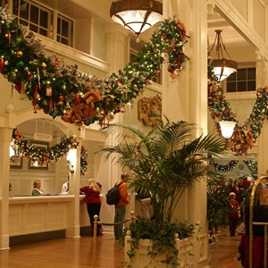 5 of 5: Disney's BoardWalk Inn - Boardwalk Lobby Holiday Decorations