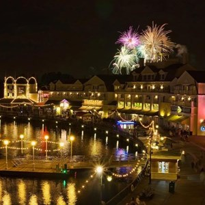 1 of 4: Disney's BoardWalk Inn - IllumiNations Reflections of Earth over the Boardwalk