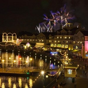 2 of 4: Disney's BoardWalk Inn - IllumiNations Reflections of Earth over the Boardwalk