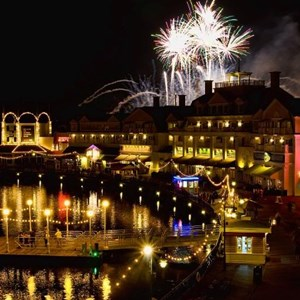 4 of 4: Disney's BoardWalk Inn - IllumiNations Reflections of Earth over the Boardwalk