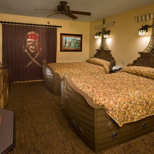 3 of 4: Disney's Caribbean Beach Resort - A look at a completed Pirates of the Caribbean room at the Caribbean Beach Resort