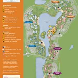 3 of 6: Disney's Caribbean Beach Resort - 2013 Caribbean Beach Resort guide map