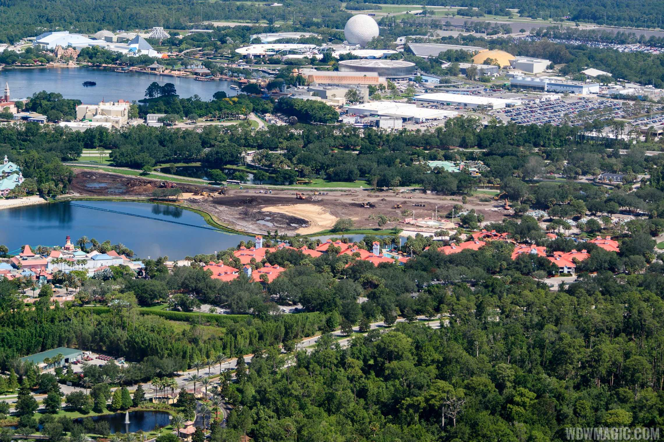 Caribbean Beach Resort aerial view