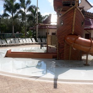 2 of 16: Disney's Caribbean Beach Resort - New Caribbean Beach Resort pool complete