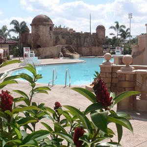 5 of 16: Disney's Caribbean Beach Resort - New Caribbean Beach Resort pool complete