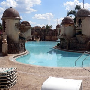 7 of 16: Disney's Caribbean Beach Resort - New Caribbean Beach Resort pool complete