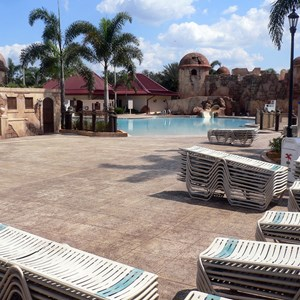 9 of 16: Disney's Caribbean Beach Resort - New Caribbean Beach Resort pool complete