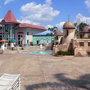 10 of 16: Disney's Caribbean Beach Resort - New Caribbean Beach Resort pool complete