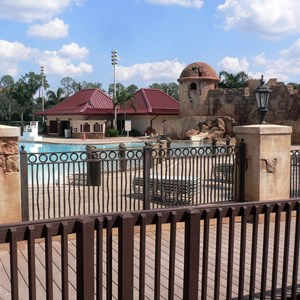 12 of 16: Disney's Caribbean Beach Resort - New Caribbean Beach Resort pool complete