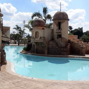 16 of 16: Disney's Caribbean Beach Resort - New Caribbean Beach Resort pool complete