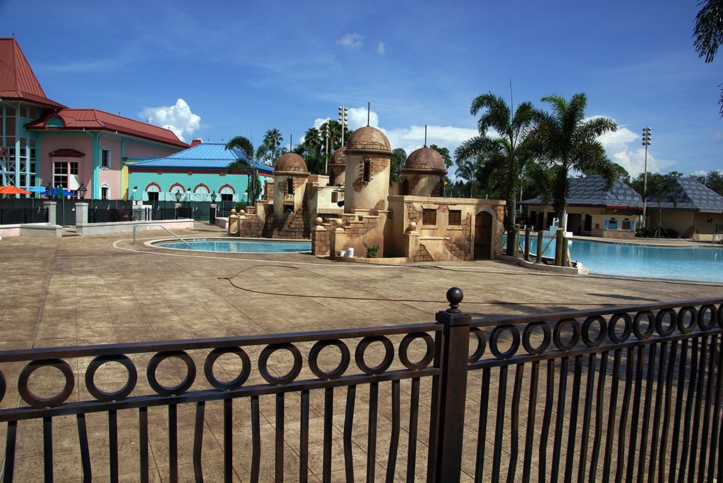 Latest Caribbean Beach Resort pool refurbishment photos
