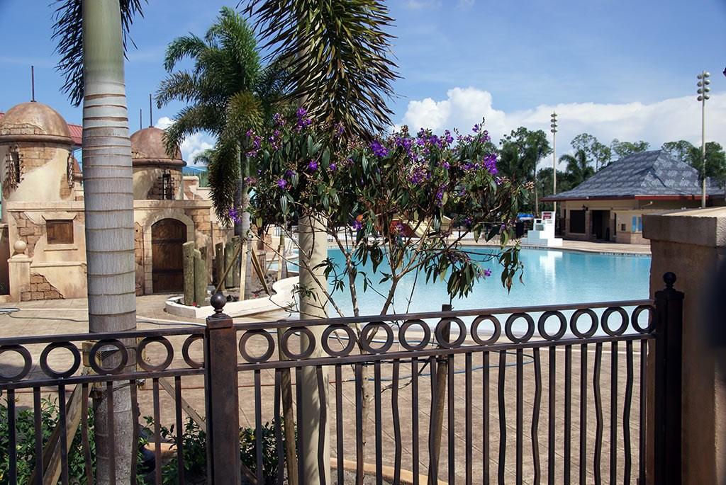 Latest Caribbean Beach Resort pool refurbishment photos