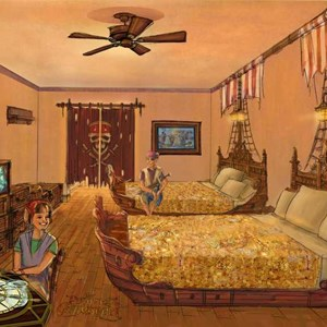 1 of 1: Disney's Caribbean Beach Resort - New Pirates of the Caribbean Rooms concept art