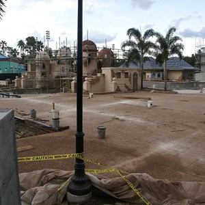 1 of 10: Disney's Caribbean Beach Resort - Latest Caribbean Beach main pool refurbishment progress photos