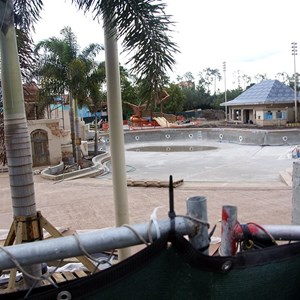 4 of 10: Disney's Caribbean Beach Resort - Latest Caribbean Beach main pool refurbishment progress photos