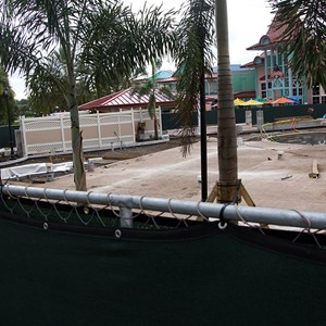 5 of 10: Disney's Caribbean Beach Resort - Latest Caribbean Beach main pool refurbishment progress photos