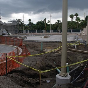 9 of 10: Disney's Caribbean Beach Resort - Latest Caribbean Beach main pool refurbishment progress photos