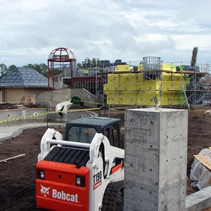 3 of 3: Disney's Caribbean Beach Resort - Latest Caribbean Beach main pool refurbishment progress photos