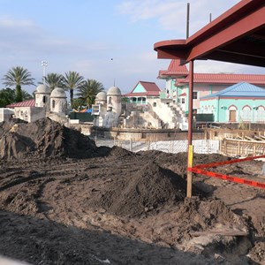4 of 5: Disney's Caribbean Beach Resort - Latest Caribbean Beach main pool refurbishment progress photos