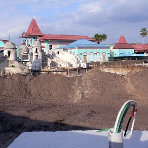 5 of 5: Disney's Caribbean Beach Resort - Latest Caribbean Beach main pool refurbishment progress photos