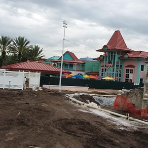 5 of 5: Disney's Caribbean Beach Resort - Caribbean Beach main pool refurbishment progress photos