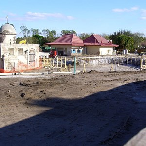 1 of 3: Disney's Caribbean Beach Resort - Caribbean Beach main pool refurbishment progress photos