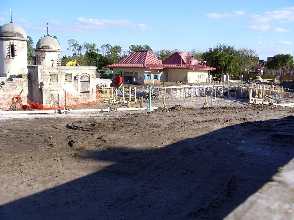 Caribbean Beach main pool refurbishment progress photos