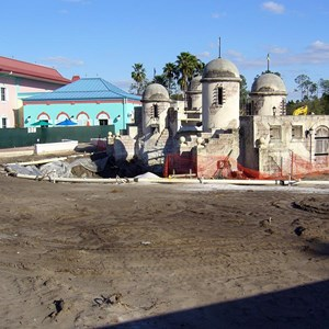 2 of 3: Disney's Caribbean Beach Resort - Caribbean Beach main pool refurbishment progress photos