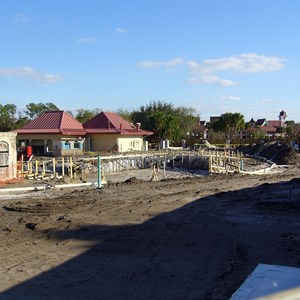3 of 3: Disney's Caribbean Beach Resort - Caribbean Beach main pool refurbishment progress photos