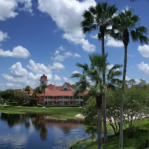 1 of 12: Disney's Caribbean Beach Resort - The view towards building 32