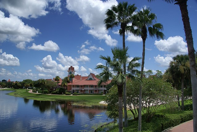 Disney's Caribbean Beach Resort - The view towards building 32