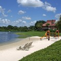 Disney&#39;s Caribbean Beach Resort - Trinidad South beach and building 32
