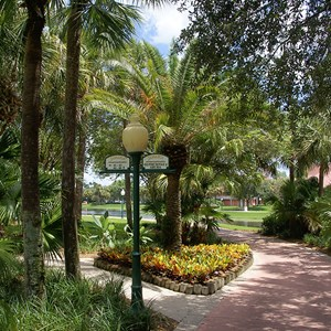 1 of 14: Disney's Caribbean Beach Resort - Jamaica area walkway