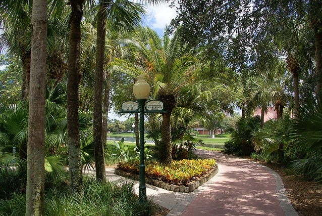 Disney's Caribbean Beach Resort - Jamaica area walkway