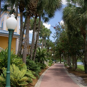 5 of 14: Disney's Caribbean Beach Resort - Jamaica area grounds