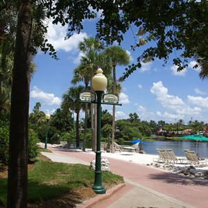 9 of 14: Disney's Caribbean Beach Resort - Jamaica beach and walkway