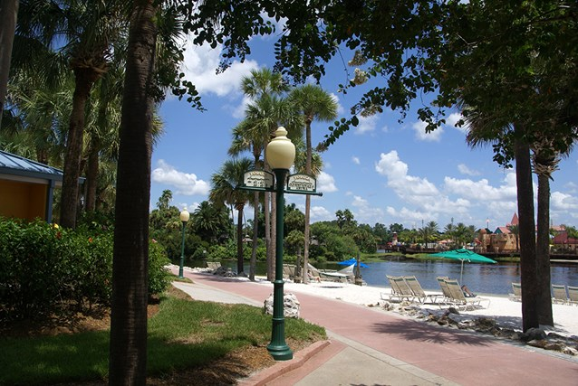 Disney's Caribbean Beach Resort - Jamaica beach and walkway