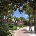 Disney's Caribbean Beach Resort - Aruba beach and building 55